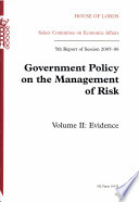 Government Policy on the Management of Risk