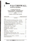 Devon & Cornwall Notes & Queries
