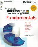 Microsoft Access 2000 Visual Basic for Applications