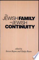 The Jewish Family and Jewish Continuity