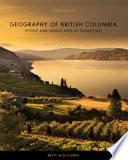 Geography of British Columbia  Third Edition