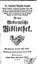 Rudolph Augustin Vogels neue medicinische Bibliothek