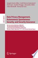 Data Privacy Management Autonomous Spontaneous Security And Security Assurance