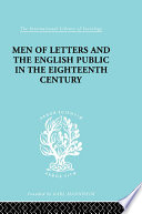 Men of Letters and the English Public in the 18th Century