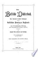 Das Baltische Dichterbuch