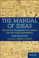 download ebook the manual of ideas pdf epub