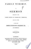 Ebook Family Worship. A Sermon [on Coloss. iv. 2] preached January 3, 1841. Second edition Epub N.A Apps Read Mobile