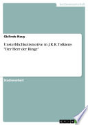 Unsterblichkeitsmotive in J R R  Tolkiens  Der Herr der Ringe