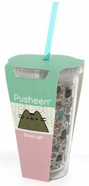 Pusheen Beaker With Straw