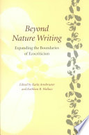 illustration du livre Beyond Nature Writing
