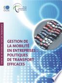 Gestion de la mobilit   en entreprises  Politiques de transport efficaces