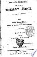 Anatomische Beschreibung des ganzen menschlischen Korpers. Von Aloys Michael Mayr, ..