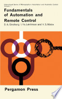 Fundamentals of Automation and Remote Control Book PDF