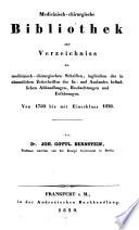 Medicinisch-chirurgische Bibliothek