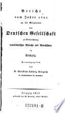 Bericht an die Mitglieder des sächsischen Vereines für Erforschung und Bewahrung vaterländischer Alterthümer