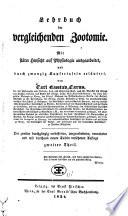 Lehrbuch der vergleichenden Zootomie