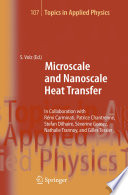Microscale and Nanoscale Heat Transfer