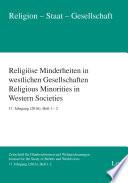 Religiöse Minderheiten in westlichen Gesellschaften. Religious Minorities in Western Societies. 17. Jahrgang (2016), Heft 1-2