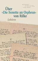 ber   Die Sonette an Orpheus  von Rilke
