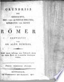 Grundriss der Geschichte Erd  und Alterthumskunde Literatur und Kunst der Roemer