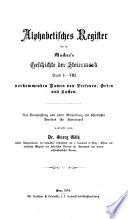 Register zu Dr. Albert v. Muchar's Geschichte des Herzogthums Steiermark. - 1. Hälfte