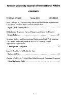 Towson University Journal of International Affairs