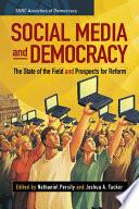 Social Media and Democracy Book PDF