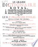 Le grand dictionaire royal