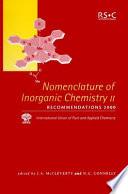Nomenclature of Inorganic Chemistry II