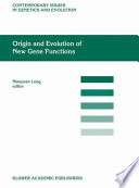 Origin And Evolution Of New Gene Functions book