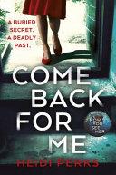 Come Back for Me Book PDF