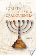 Scripta Judaica Cracoviensia  vol  8