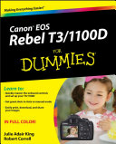 Canon EOS Rebel T3 1100D For Dummies