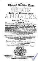 Des chur- und fürstlichen Hauses Sachsen Ernestin- und Albertinischer Linien Annales