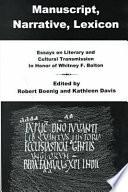 Manuscript, Narrative, Lexicon