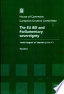 The Eu Bill and Parliamentary Sovereignty