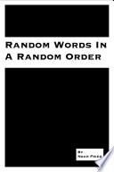 Random Words In A Random Order