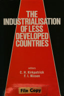 The Industrialisation of Less Developed Countries