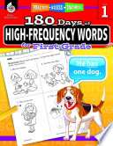 180 Days of High Frequency Words for First Grade