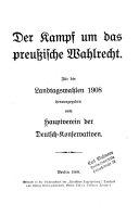 Der Kampf um das preussische Wahlrecht