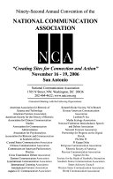 Papers from the     National Communication Association Convention