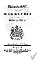 Manipulazionsart bey dem Appellazionsgerichte im Königreiche Böheim