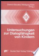 Untersuchungen zur Dialogfähigkeit von Kindern