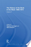 The History of the Book in the West  1800   1914