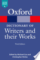 A Dictionary Of Writers And Their Works book