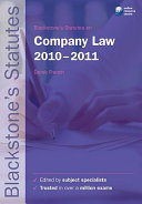 Blackstone's Statutes on Company Law 2010-2011