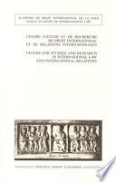 illustration du livre Le droit international des transports maritimes 1999