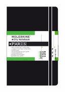 Moleskine City Notebook   Paris  Pocket  Black  Hard Cover  3 5 x 5 5