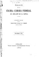 Fallos de la excma. Cámara federal de apelación de la capital