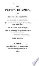 Les Petits hommes ou recueil d'anecdotes